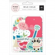 Apliques e Chipboards - Wild Child Ephemera Girl