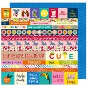 Papel All the Things - Box of Crayons Collection 30,5x30,5 - American Crafts