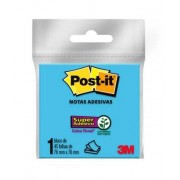 Bloco de Notas Super Adesivas Post-it® Azul 76 mm x 76 mm - 45 folhas