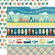 Papel Border Strips - Good Day Sunshine Collection 30,5x30,5 - Echo Park