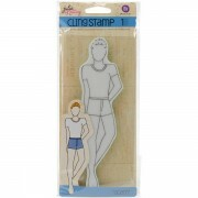 Carimbo de Silicone  - Doll Cling Stamp 1 - Julie Nutting - Adam