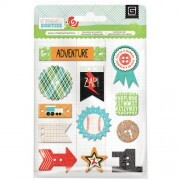 Bottons Chipboard - Knee Highs and Bow Ties Collection- BasicGrey
