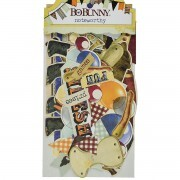Apliques Chipboard - Noteworthy Heritage Collection - Bo Bunny 37 pcs