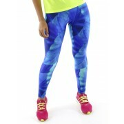 Calça Legging Estampada Tropical Blue Mama Latina