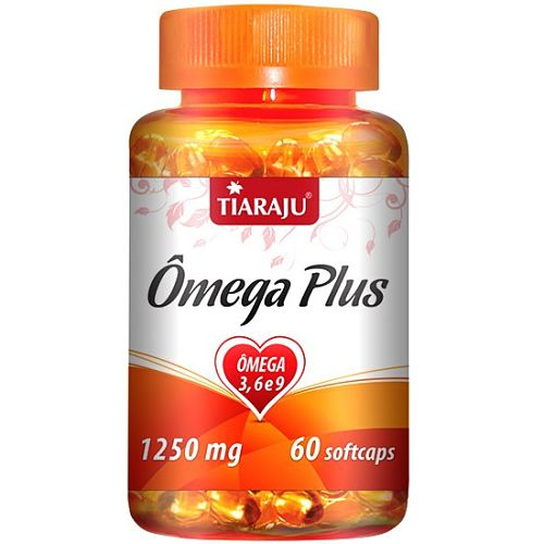 Ômega Plus 1250 mg 60 Cápsulas Softgel - Tiaraju