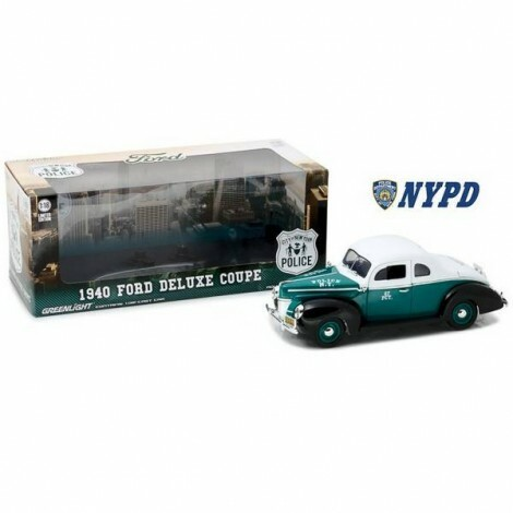 1940 Ford Deluxe Coupe New York City Police 1/18 - Califórnia Toys