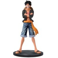 Action Figure One Piece Jeans Freak Vol.1 Luffy (Preto) - Bandai Banpresto