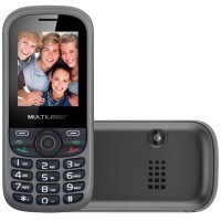 Celular Up 3Chip Quadriband Cam Mp3/4 Fm P3274 Preto/Cinza - Multilaser