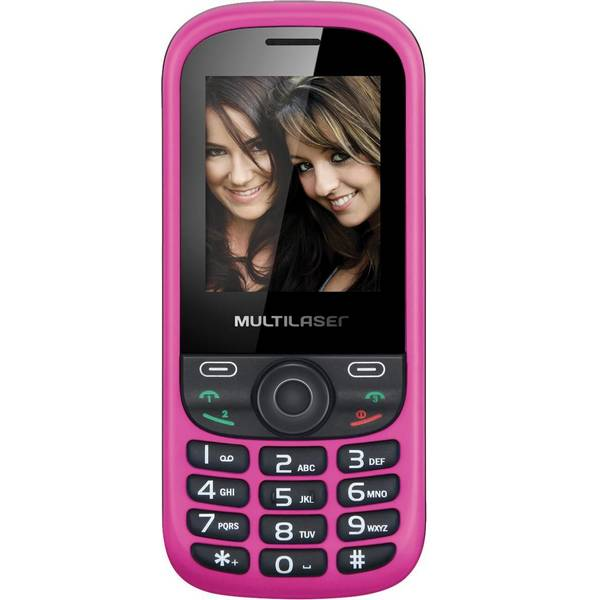 Celular Up 3 Chip Quadriband Cam Mp3 Mp4 Fm P3275 Preto Rosa - Multilaser