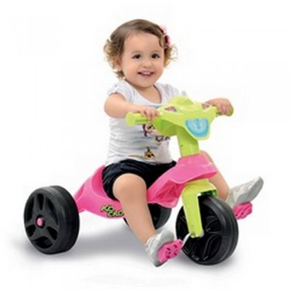Triciclo Kid Cross Rosa 627 - Bandeirante