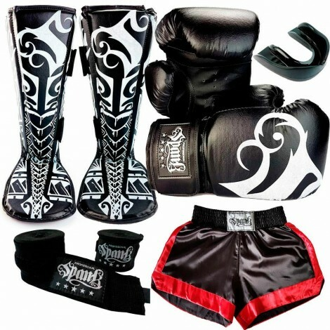 KIT Muay Thai Short Spank  - Preto