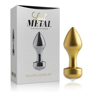 Plug Anal Butt em Metal Ouro Jewerry - Lust Metal