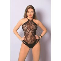 Body Rendado com  Bodystocking Yaffa