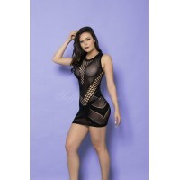 Vestido Rendado Bodystocking Yaffa