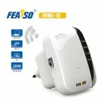 Repetidor Wireless 300Mbps 2.4Ghz Feasso FRWL-15