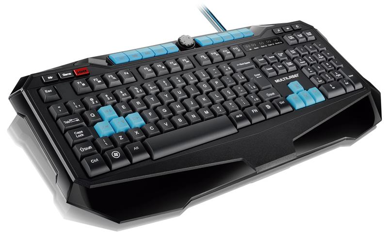 Teclado Multilaser Gamer Metal War USB Preto - TC185