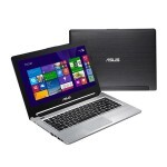 "UltraBook Asus S46CB-WX230H Intel Core i7/ 8GB RAM/ HDD 1TB + 24GB SSD/ Tela LED 14""/ DVDRW/ NVIDIA 740M 2GB/  Windows 8 - Preto/Prata"