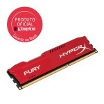 Memória Kingston HyperX FURY 8GB 1600MHz DDR3 CL10 DIMM Red Series HX316C10FR/8