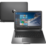 "Notebook HP 14-AP010BR Intel Celeron/4GB RAM/ HDD 500GB/ Tela LED 14""/ Windows 10 - Grafite"