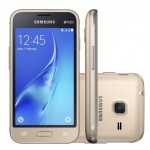 "Smartphone Samsung Galaxy J1 Mini Duos SM-J105B/DL, Quad Core 1.2 Ghz, Android 5.1, Tela 4"", 8GB, 5 MP, 3G, Desbl - Dourado"