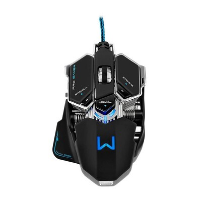 Mouse Gamer Multilaser Warrior Mecânico 4000 Dpi - MO246