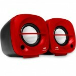 Caixa de Som C3Tech Portátil Speaker 2.0 Red - SP-303RD