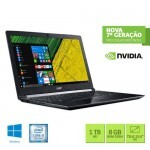 "Notebook Acer A515-51G-58VH Intel Core i5/ 8GB RAM/ HDD 1TB/ Tela LED 15.6""/ Vídeo NVIDIA 2GB/ Windows 10 - Preto"