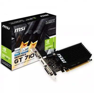 Placa de Vídeo NVIDIA MSI GT 710 2GB DDR3 64 BIT 912-V809-2025