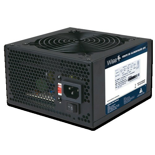 Fonte ATX Wise Case 500W Real Sata 24 Pinos