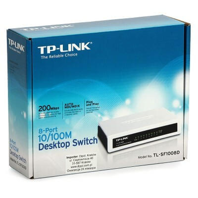 Switch TP-Link TL-SF1008D - 8 Portas 10/100Mbps