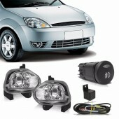 Kit Farol de Milha Fiesta Hatch / Sedan 03 à 07 + Kit Xenon