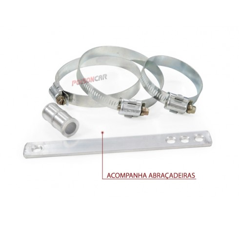 Kit Air Cool Race Chrome Gol / Parati 97 a 08 1.0 8V/16V