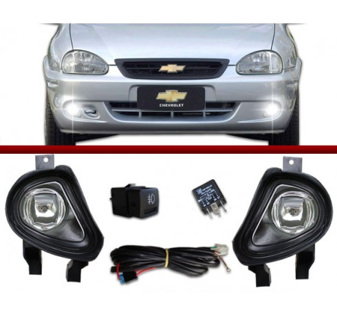 Kit Farol de Milha Corsa Hatch / Wagon / Sedan / Pick-up 00 à 02 e Classic 03 à 09