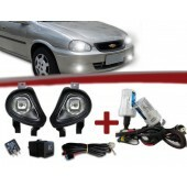 Kit Farol de Milha Corsa Hatch / Sedan / Pick-up 00 à 02 e Classic 03 à 09 + Kit Xenon