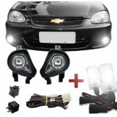 Kit Farol de Milha Corsa Hatch / Wagon / Sedan / Pick-up 00 à 02 e Classic 03 à 09 + Kit Xenon
