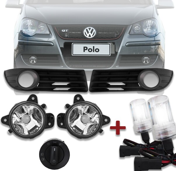 Kit Farol de Milha Polo Sedan/Hatch 08 à 12 + Xenon
