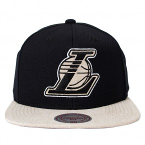 Boné Mitchell and Ness Snapback Los Angeles Lakers Preto / Bege