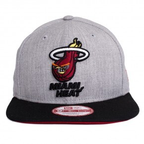 Boné New Era Snapback Miami Heat Original Fit Cinza