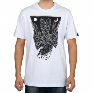 Camiseta Hoshwear Black Bird Branca