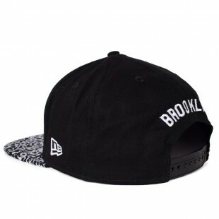 Boné New Era Snapback Brooklyn Nets Original Fit Preto