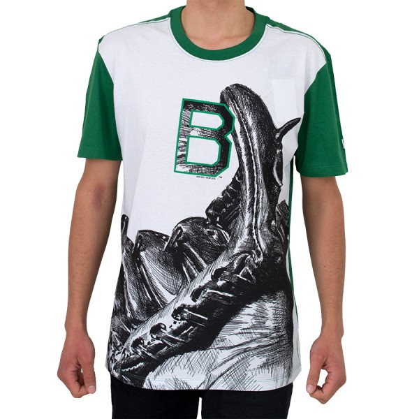 Camiseta New Era Brooklyn Nets Branca / Verde