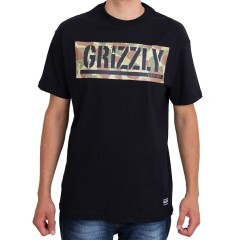Camiseta Grizzly Land And Waters Camo Preta