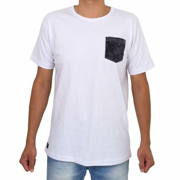 Camiseta Even Pocket Branca
