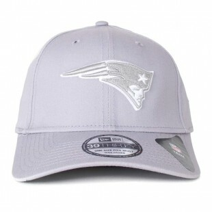 Boné New Era England Patriots 39Thirty Aba Curva Cinza