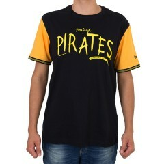 Camiseta New Era Pittsburgh Pirates Preta / Amarela