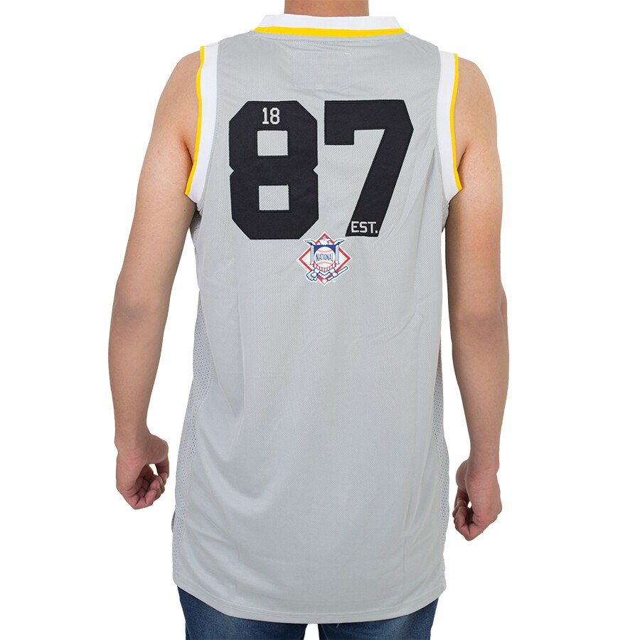 Regata New Era Basketball Pittsburg Pirates Cinza
