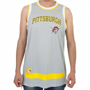 Regata New Era Basketball Pittsburgh Pirates Cinza