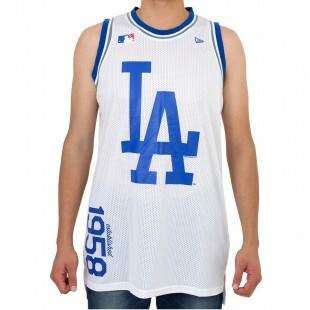 Regata New Era Basketball Los Angeles Dodgers Branca