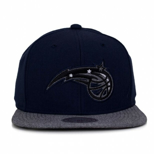 Boné Mitchell and Ness Snapback Orlando Magic Marinho / Cinza
