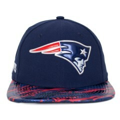 Boné New Era Snapback England Patriots Original Fit Marinho